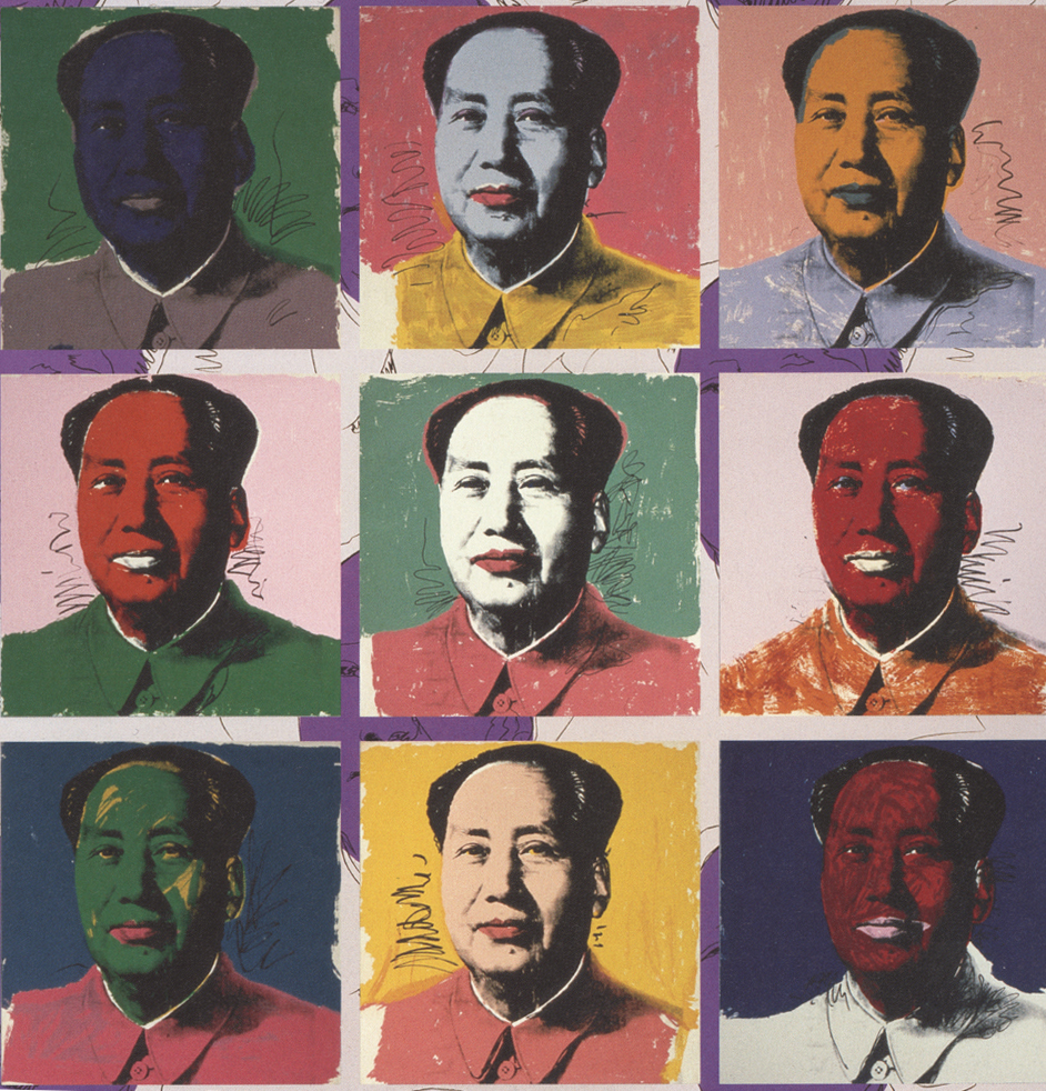 Chairman Mao meet, Andy Warhol